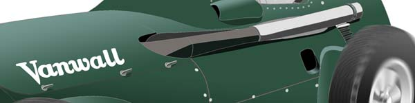 Vanwall VW5 1958 Stirling Moss close up