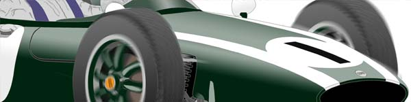 Cooper T53 1960 Jack Brabham close up