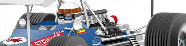 Matra MS80 1969 Jackie Stewart close up