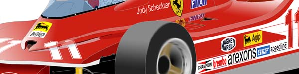 Ferrari 312T4 1979 Jody Scheckter close up