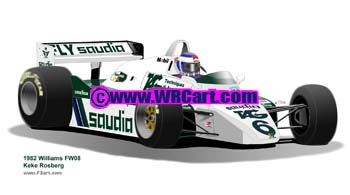 Williams FW08 1982 Keke Rosberg