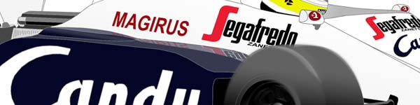 Toleman All 1984 Ayrton Senna close up