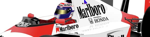 McLaren MP4-5 1989 Alain Prost close up