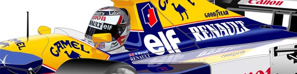 Williams FW14 1992 Nigel Mansell close up