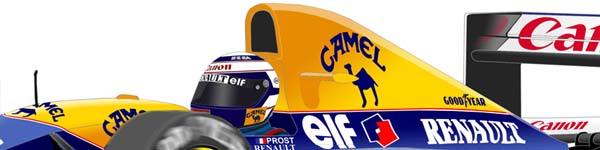 Williams FW15C 1993 Alain Prost close up