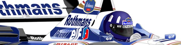 Williams FW18 1996 Damon Hill close up