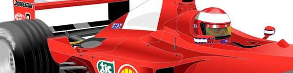 Ferrari F2000 2000 Michael Schumacher close up