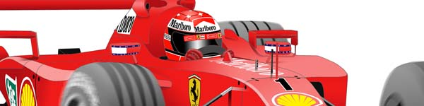 Ferrari F2001 2001 Michael Schumacher close up