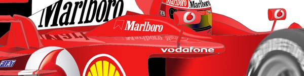 Ferrari F2003 2003 Michael Schumacher close up