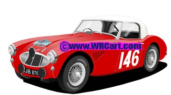 Austin Healey 100-6 Alpine Rally 1961 Donald Morley