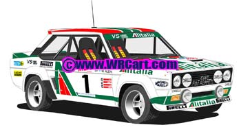Fiat 131 Abarth1000 Lakes Rally 1979 Markku Alen