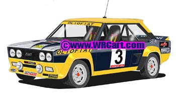 Fiat 131 AbarthPortugal Rally 1977 Markku Alen