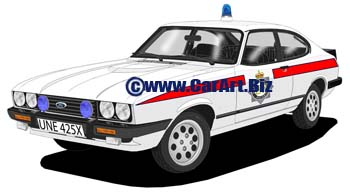Ford Capri III  Greater Manchester police
