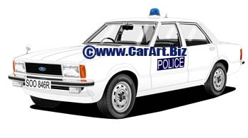 Ford Cortina IV  Essex police
