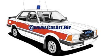 Ford Cortina V  West Midlands police