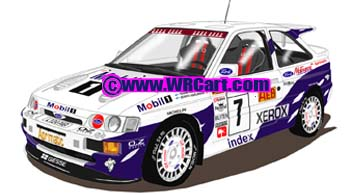 Ford Escort Cosworth1000 Lakes Rally 1994 Tommi Makinen