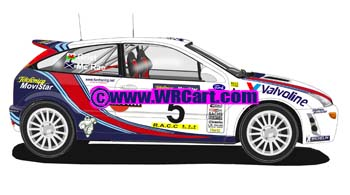Ford Focus Catalunya Rally 2000 Colin McRae