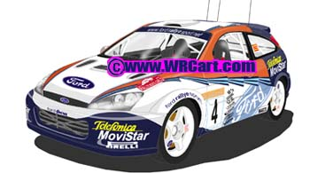Ford Focus Monte Carlo Rally 2002 Carlos Sainz