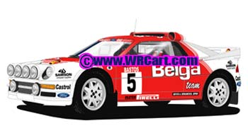 Ford RS200 Ypres Rally 1986 Robert Droogmans