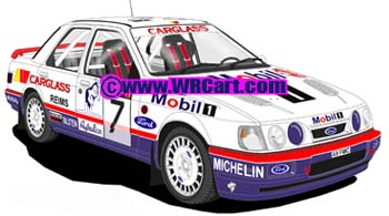 Ford Sierra Cosworth 4x4Monte Carlo Rally 1992 Francois Delacour