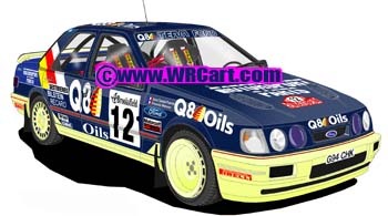 Ford Sierra Cosworth 4x4Monte Carlo Rally 1991 Francois Delacour