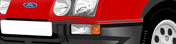 Ford Sierra XR4i close up