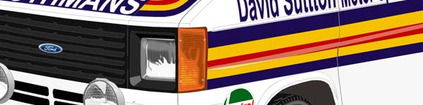 Ford Transit MK2 Monte Carlo Rally 1980 Ari Vatanen close up