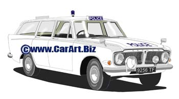 Ford Zephyr 6  Lancashire police