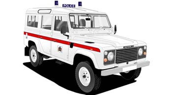 Land Rover 110  Thames Valley police