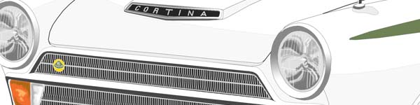 Lotus Cortina I  close up