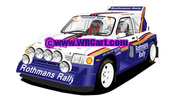 MG Metro 6R4No particular Rally 1986 Jimmy McRae