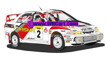 Mitsubishi Evo IV Safari Rally 1998 Richard Burns
