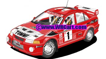 Mitsubishi Evo VI New Zealand Rally 1999 Tommi Makinen