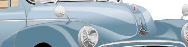 Morris Minor  close up