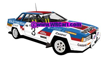 Nissan 240 RS New Zealand Rally 1983 Timo Salonen