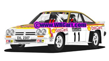 Opel Manta 400National Breakdown Rally 1984 Bertie Fisher