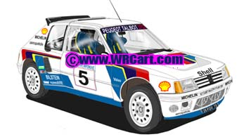Peugeot 205 T16Acropolis Rally 1985 Timo Salonen
