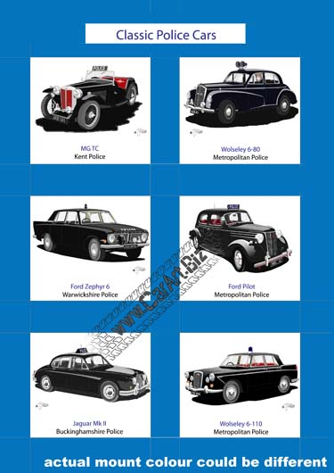 Classic black police cars