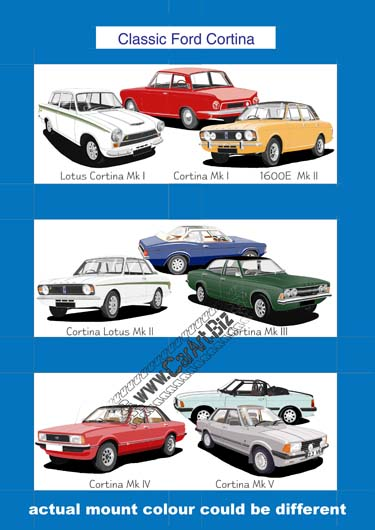 Ford Cortina art print
