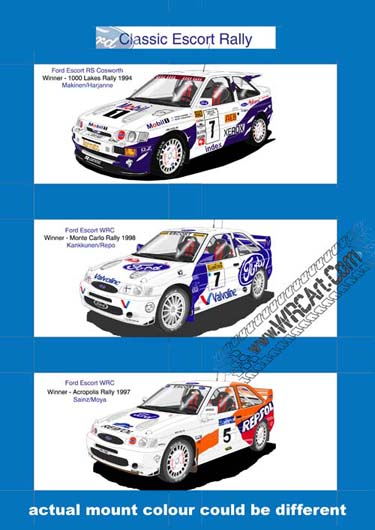 Ford Escort WRC rally print