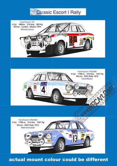 Ford Escort Mk 1 rally print