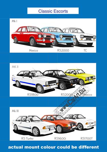 Ford Escort art print