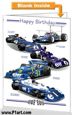 F1 Tyrrell Birthday Card
