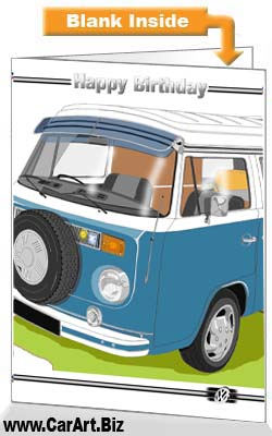 VW Camper Birthday Card