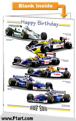 F1 Williams Birthday Card