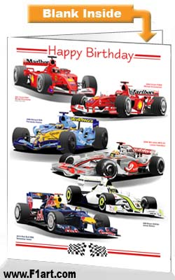 F1 2000s Birthday Card
