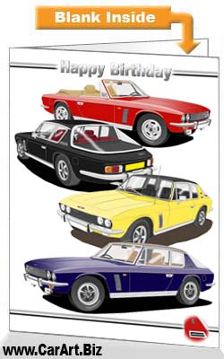 Jensen Interceptor Birthday Card