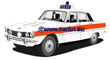 Rover P6 2200 West Midlands police