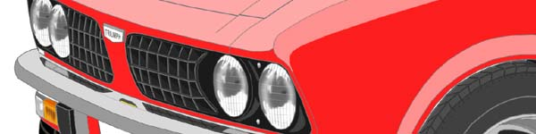 Triumph Dolomite HL close up