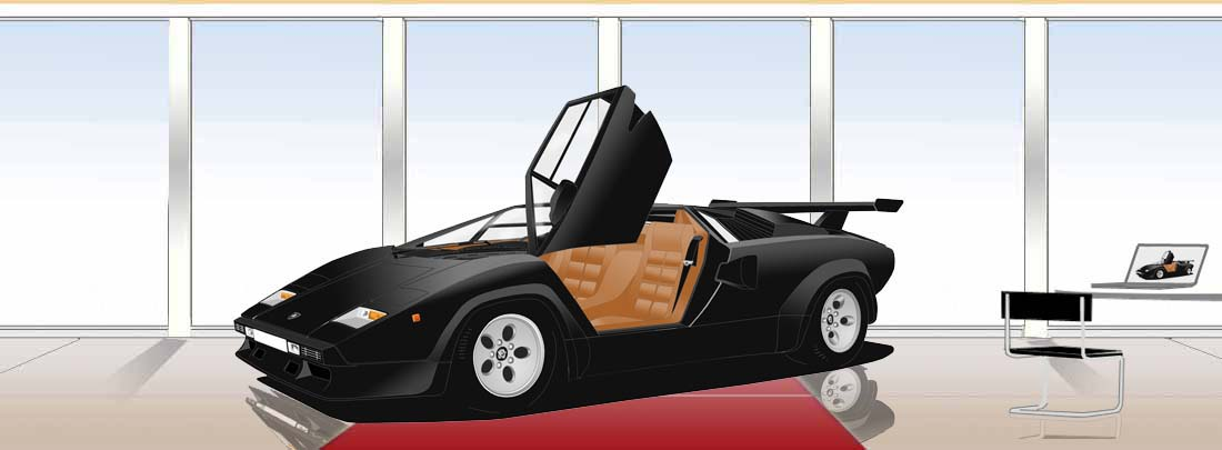 Lamborghini Countach LP500 doors up